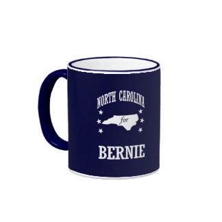 NORTH CAROLINA FOR BERNIE SANDERS RINGER COFFEE MUG