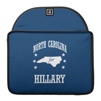 NORTH CAROLINA FOR HILLARY MacBook PRO SLEEVE