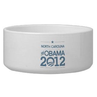 NORTH CAROLINA FOR OBAMA 2012.png Pet Water Bowls