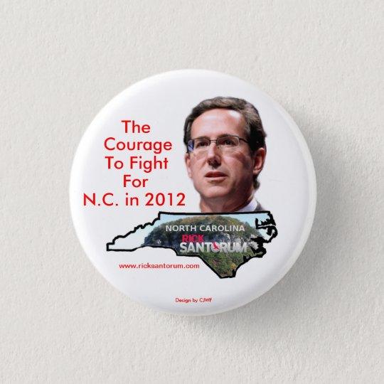 North Carolina for Rick Santorum Pinback Button