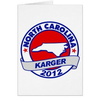 North Carolina Fred Karger Card
