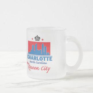 NORTH CAROLINA FROSTED GLASS COFFEE MUG