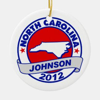North Carolina Gary Johnson Ornament