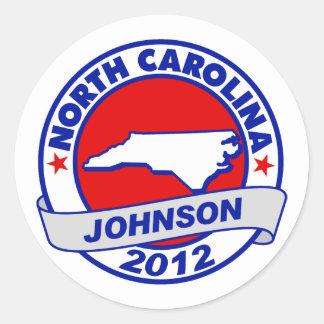North Carolina Gary Johnson Sticker