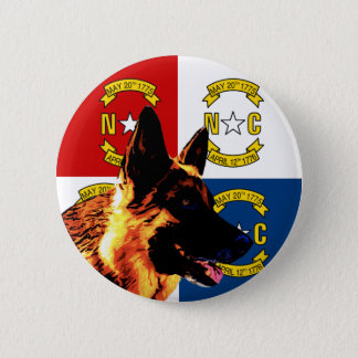 North Carolina German Shepherd Pinback Button