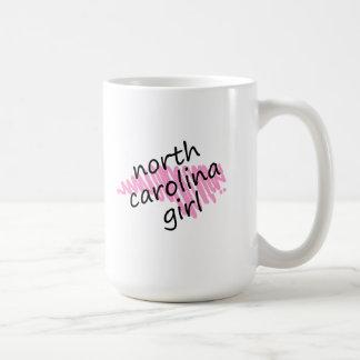 North Carolina Girl with Scribbled North Carolina Coffee Mug