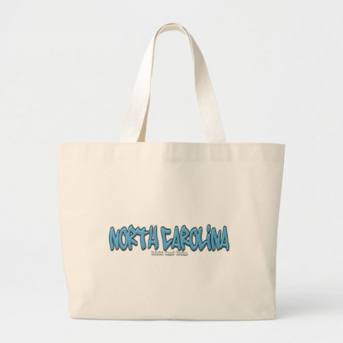 North Carolina Graffiti Large Tote Bag