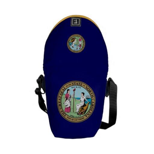 North Carolina Great Seal Messenger Bags