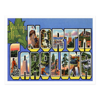 North Carolina Greetings From US States Postcard