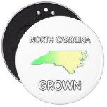 North Carolina Grown Pinback Button