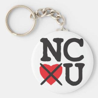 North Carolina Hates You Keychains