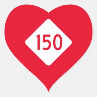 North Carolina Highway 150 Heart Sticker