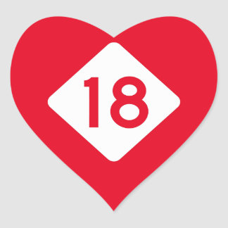 North Carolina Highway 18 Heart Sticker