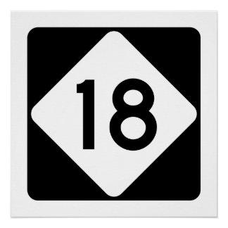 North Carolina Highway 18 Poster