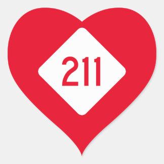 North Carolina Highway 211 Heart Sticker