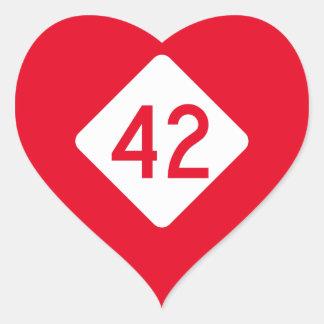 North Carolina Highway 42 Heart Sticker