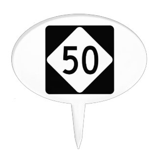 North Carolina Highway 50 Cake Topper