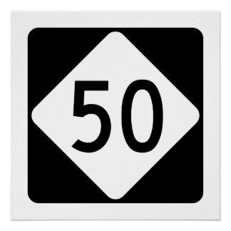 North Carolina Highway 50 Poster
