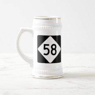 North Carolina Highway 58 Beer Stein