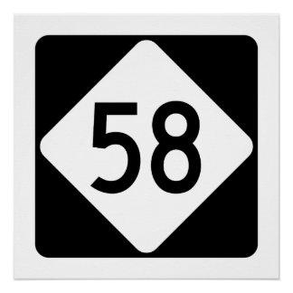 North Carolina Highway 58 Poster