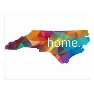 North Carolina HOME Low Poly Postcard