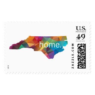 North Carolina HOME Lowpoly Rainbow Stamps