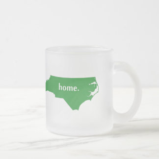 North Carolina home silhouette state map Frosted Glass Coffee Mug