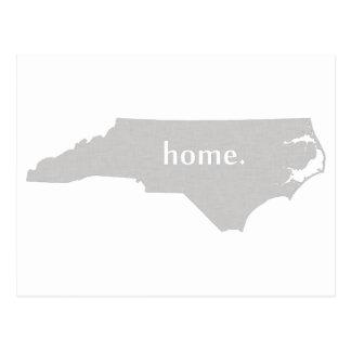 North Carolina home silhouette state map Postcard