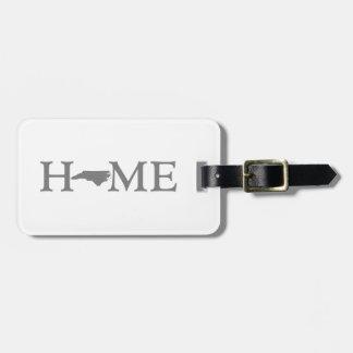 North Carolina Home State Bag Tag