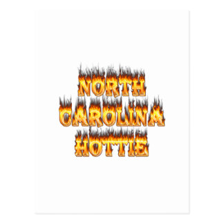 North Carolina Hottie fire and flames Postcard