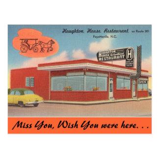 North Carolina, Houghton House, Fayetteville Postcard