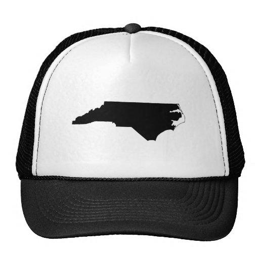 North Carolina in Black and White Trucker Hat