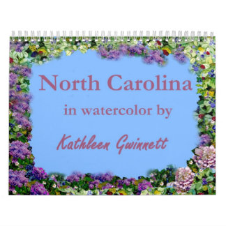 North Carolina In Watercolor Calendar