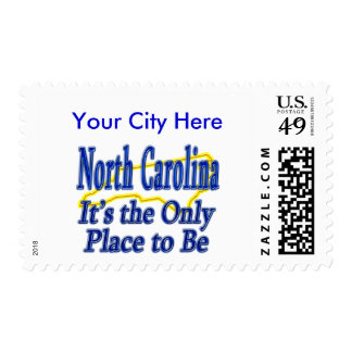 North Carolina  It's the Only Place to Be Postage Stamps