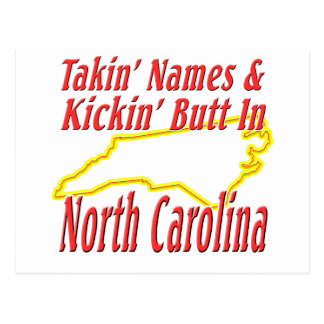 North Carolina - Kickin' Butt Postcard