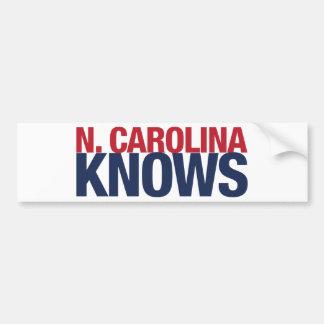 North Carolina Knows Bumper Sticker