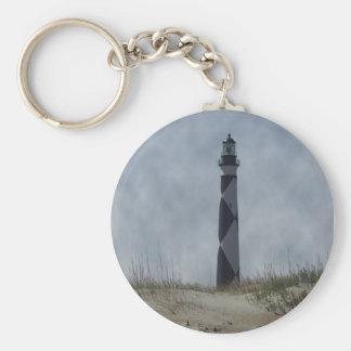North Carolina Lighthouse Basic Round Button Keychain