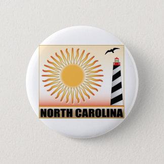 North Carolina Lighthouse Sun Pinback Button