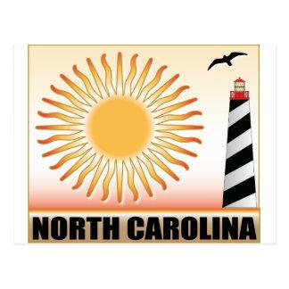 North Carolina Lighthouse Sun Postcard