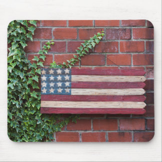 North Carolina, Linville, wooden US flag Mouse Pad