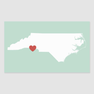 North Carolina Love - Customizable Sticker