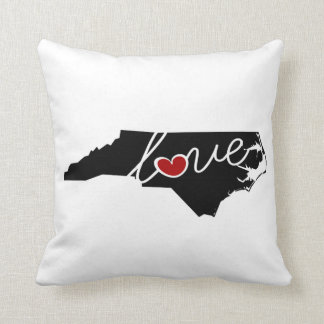 North Carolina Love!  Gifts for NC Lovers Pillow