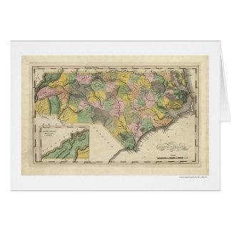 North Carolina Map 1814 Card