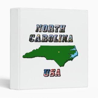 North Carolina Map and Text Binder