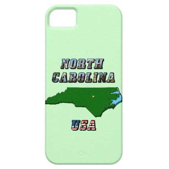 North Carolina Map and Text iPhone SE/5/5s Case