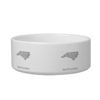 North Carolina map Bowl