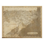 North Carolina Map by Arrowsmith Posters