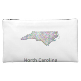 North Carolina map Cosmetic Bag