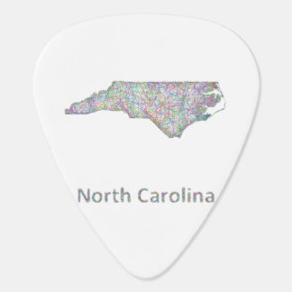 North Carolina map Guitar Pick