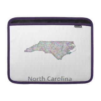 North Carolina map MacBook Sleeve
